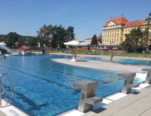 Louka outdoor swimming pool in Znojmo
